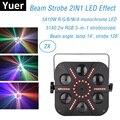 レーザープロジェクタービームストロボステージライト 51 × 0.2 ワット RGB 3IN1 LED ストロボライト DMX 512 制御 5 × 10 ワット RGBWA 5IN1 LED 効果光 Dj