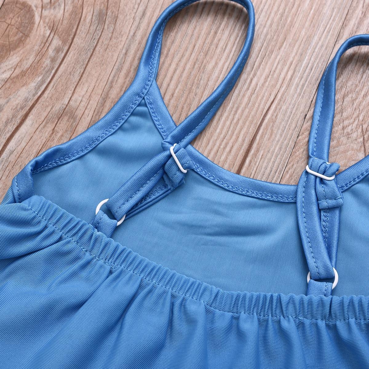 2019 New Style KID'S Swimwear Europe And America Girls Heart Suspender Shorts Swimsuit