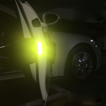 4pcs/lot Door Open Warning Safety Reflective Sticker For BMW e90 f30 e60 f10 Car Styling Car Sticker image