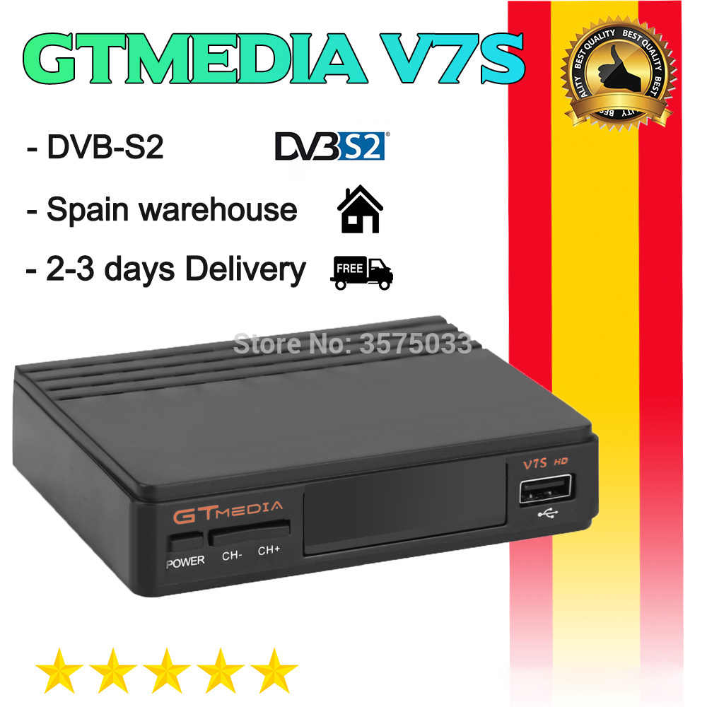 Hot Koop Gtmedia V7S Hd Power Door Freesat V7 DVB-S2 Gt Media V7S Usb Wifi Fhd 1080P Hoge Kwaliteit geen App