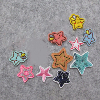 five-pointed star Patches For Clothing Iron On Embroidered Appliques DIY Apparel Accessories Patches For Clothing Fabric Badges image