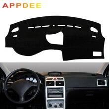 Appdubai غطاء لوحة سيارة داش حصيرة لبيجو 307 الشمس الظل داشمات وسادة السجاد المضادة للأشعة فوق البنفسجية حامي السيارات تصفيف السيارة