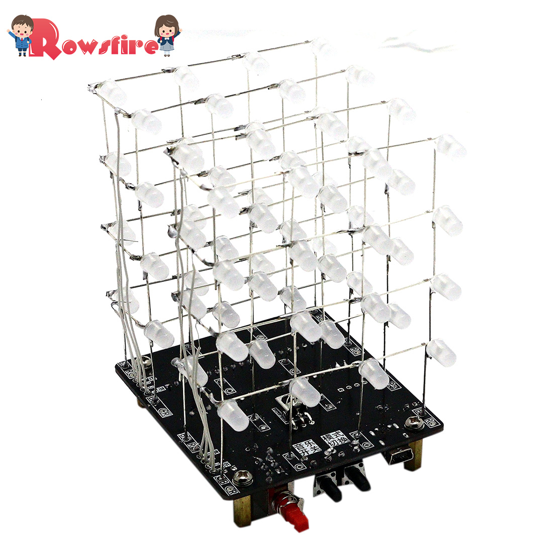 DIY Welding Electronic Bulk Parts Music Light Cube Kit (Remote Control, Seven Colours Changing, USB Power Supply)