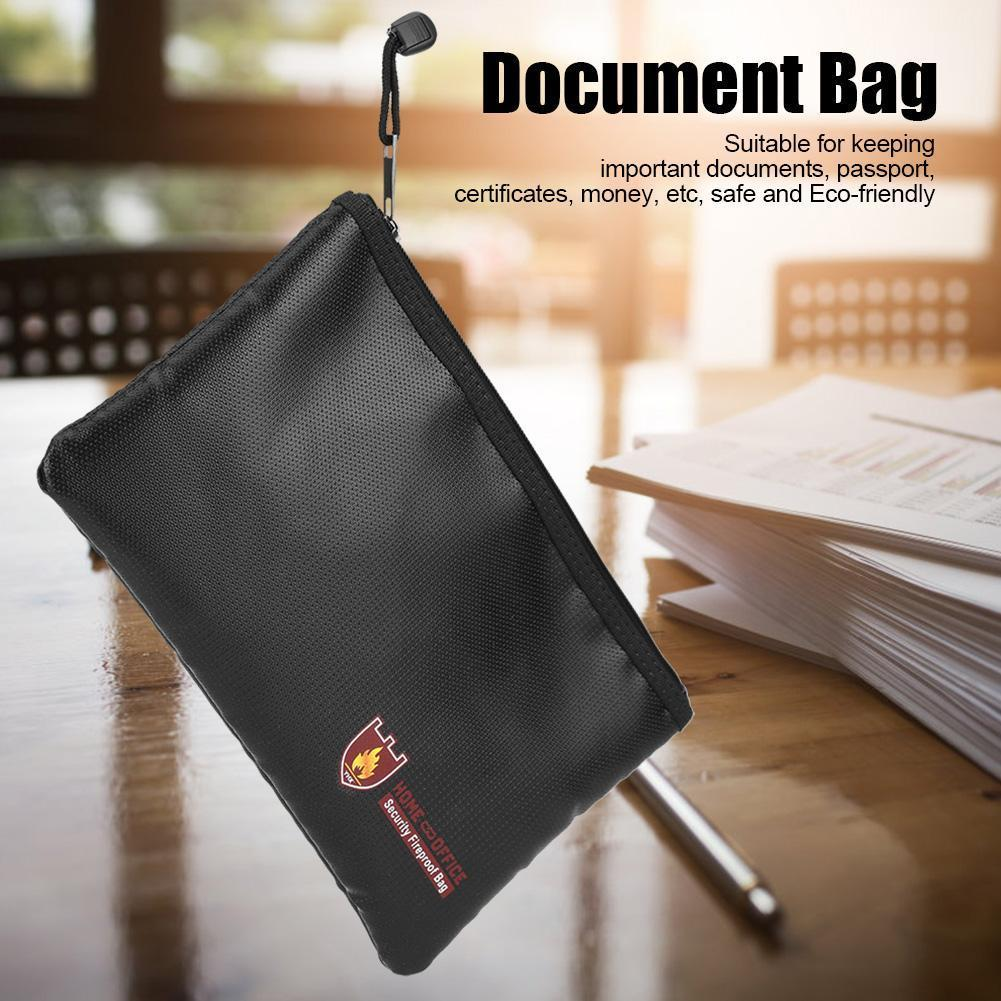 Fireproof Document Bag Fire Resistant Waterproof Envelope Pouch For Passport Money Files AS99
