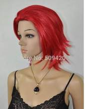 Shun FSX5982Q>> vogue korte rechte vrouwen haar Cosplay Party rode pruiken(China)