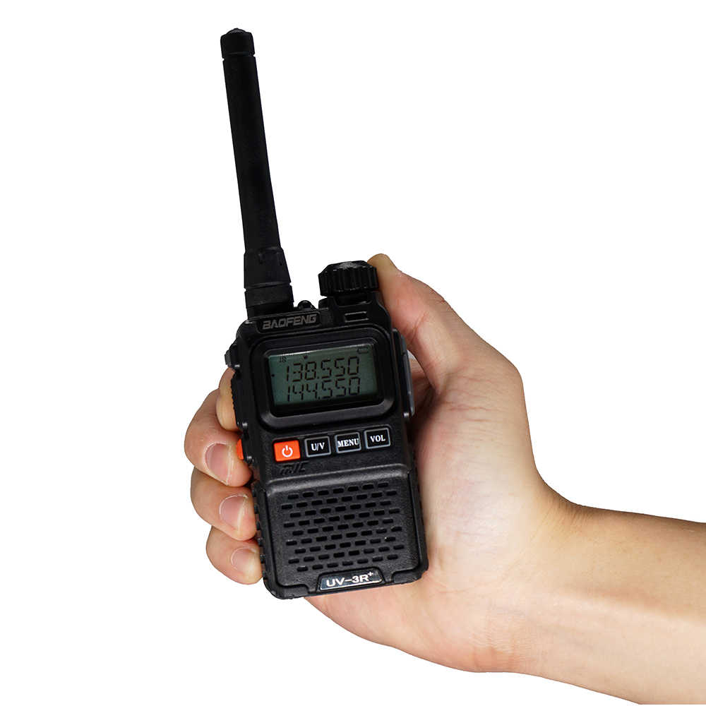Baofeng UV 3R Plus Talkie-walkie Bi-bande UV3R + Radio Bidirectionnelle Sans Fil CB Jambon Radio FM Émetteur-Récepteur HF UHF VHF UV-3R Interphone