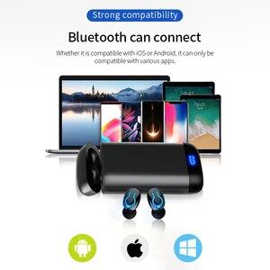 Image 5 - 6000 バッテリー充電ケースワイヤレス Bluetooth 5.0 イヤホン HD ステレオヘッドフォンスポーツ防水ヘッドセットとデュアルマイク