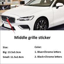 Siyah mavi rozet alüminyum amblem Sticker ön izgara direksiyon Logo yedek için S60L C30 S80 S40 V40 V60 XC90 XC60