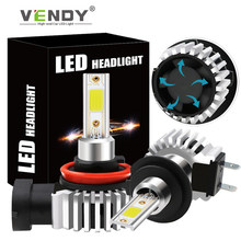 Phares antibrouillard LED pour voiture, 2x, H11 9006 HB4 9005 HB3 H4 H7 H8 H1, pour mazda 3 6 gg gh cx-5 rx8 cx7 323 2 5 8 Chrysler 300c