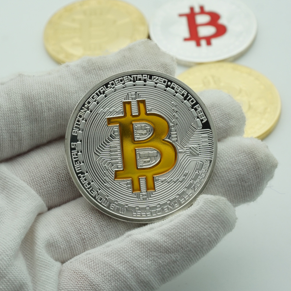 Ripple Bitcoin silver litecoin Coin Collectible Gift Casascius Bit Coin BTC Coin Art Collection Physical Commemorative Coin-0