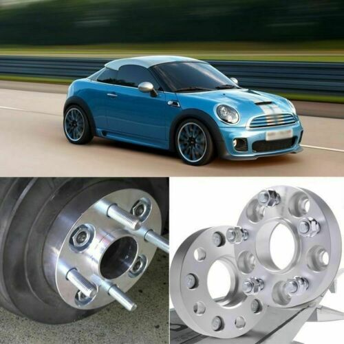 2pcs 4X100 56.1CB 20mm Thick Hubcenteric Wheel Spacer Adapters For MINI Coupe