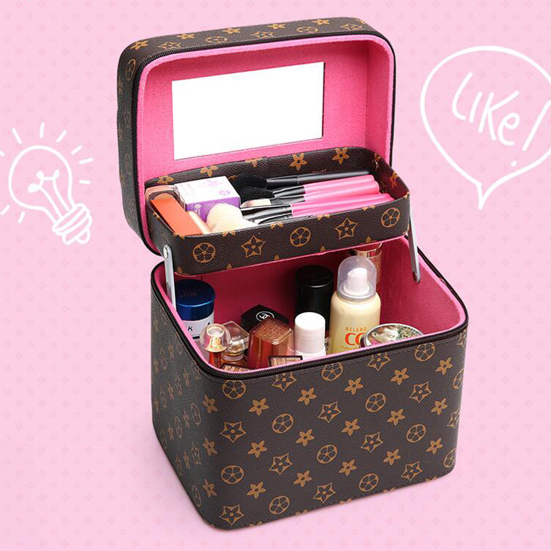Portable Makeup Kit Waterproof Makeup Storage Bag Large Capacity Multilayer Clapboard Makeup Toolbox Case Beauty Toolbox