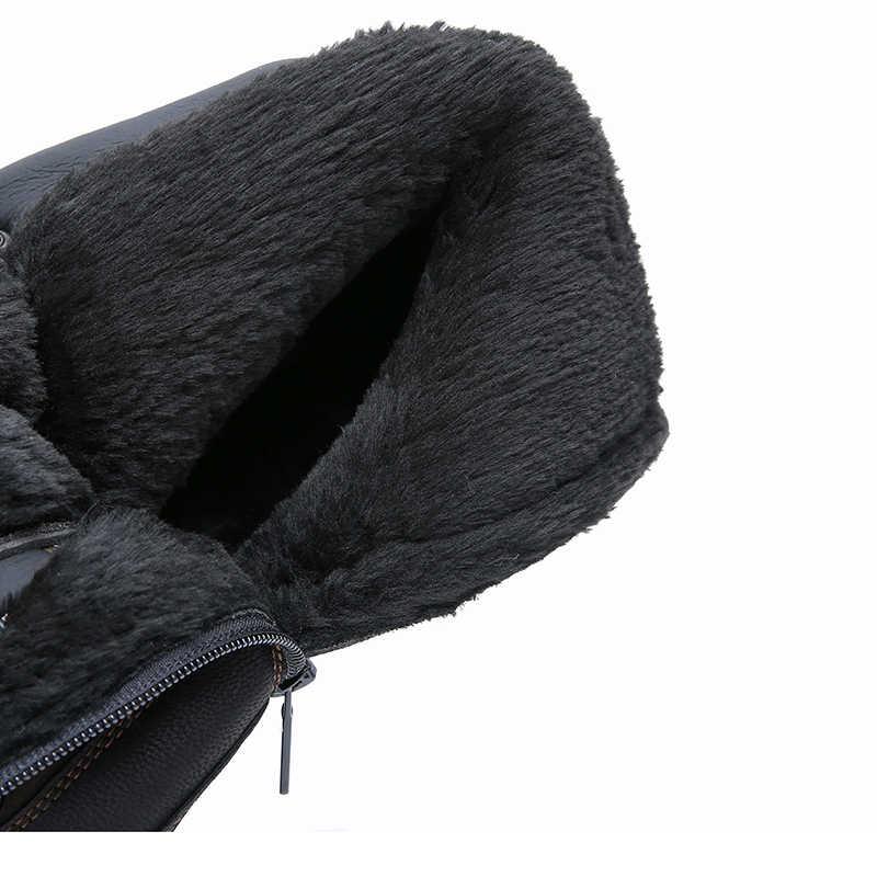 KULADA Nieuwe Laarzen Mannen Winter Sneeuw Laarzen Mannen Outdoor Activiteit Sneakers Laarzen Warm Lace Up Hoge Top Fashion Schoenen Mannen veiligheid Laarzen