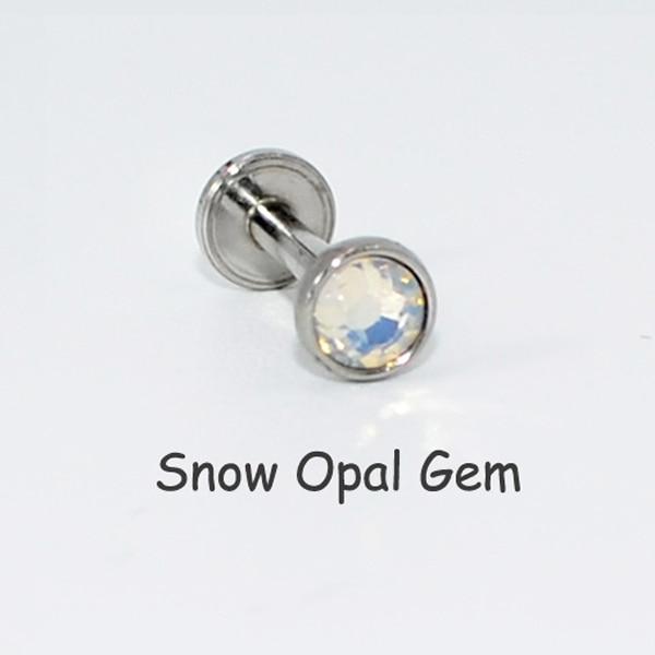 1PC Opal CZ Gem Lip Labret...