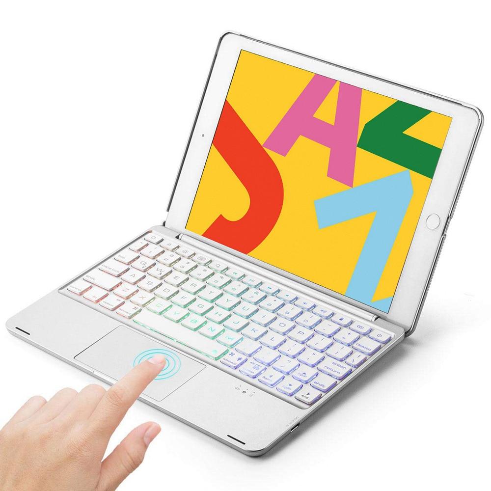 Retroiluminado sem Fio Case com Mouse Touchpad para Ipad Alumínio Bluetooth Espanhol Teclado 9.7 2020 – Pro ar 1 & 2 Tablet 5.0