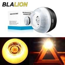 Voiture LAMPES LED DE SECOURS Lampe D'avertissement Avec Triangle d'avertissement Réfléchissant de Signe Nuit Route Réflecteur Ambre Clignotant Lumières