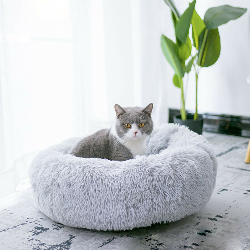 Pet Breathable Dog Cat Calming Bed Round Nest Warm Soft Plush Sleeping Bag Comfy Flufy Gift Solid Cotton Bed Mats Pet Products|Houses, Kennels & Pens|   - AliExpress