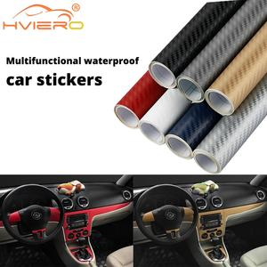 10cmx127cm 3D Carbon Fiber Vinyl Car Wrap Sheet Roll Film Car Stickers And Decals Motorcycle Car Styling Accessories Automobiles