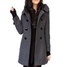 2020 Hooded Woolen Cashmere Cotton Coats and Jackets Autumn Women Coats Winter Women Casual Slim Plu