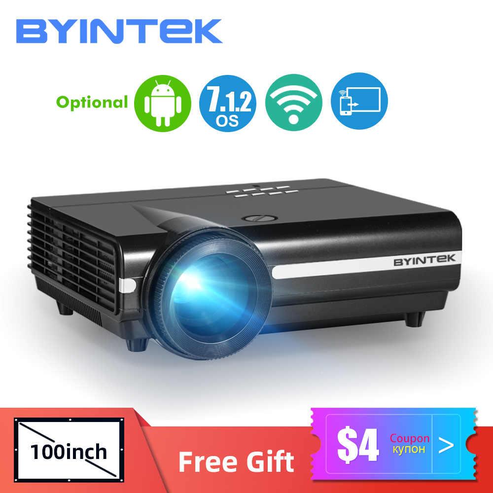 BYINTEK-proyector LED BT96plus para cine en casa, LED, inteligente, para vídeo Full HD, 3D, 4K, 300 pulgadas, Android y Wifi