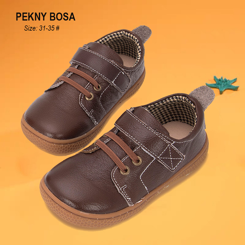 Pekny Bosa Brand Children Boy Shoes Soft Cow Leather Shoes For Kids Girl Student School Sneakers Shoes Soft Bottom 25-35
