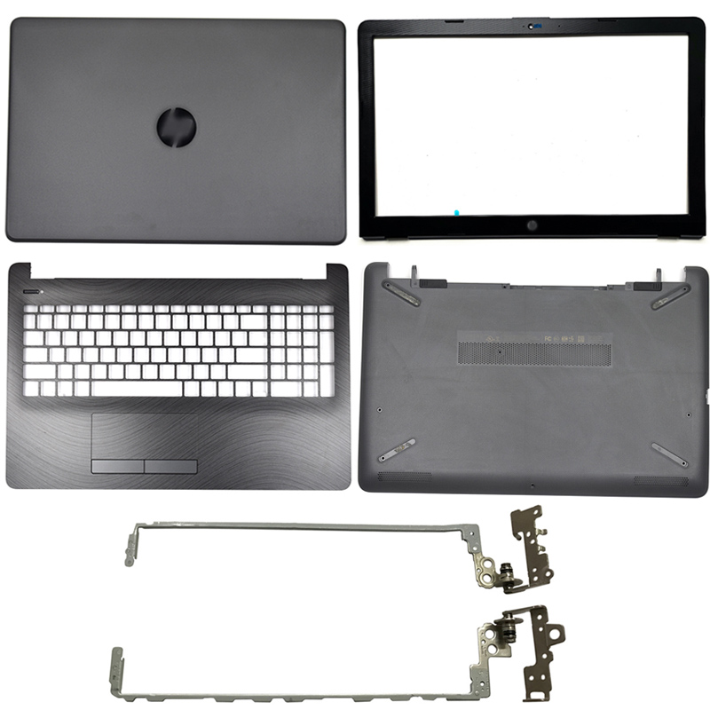 Laptop LCD Back Cover/Front Bezel/LCD Hinges/Palmrest/Bottom Case For HP 15-BS 15T-BS 15-BW 15Z-BW 250 G6 255 G6 929893-001 Gray