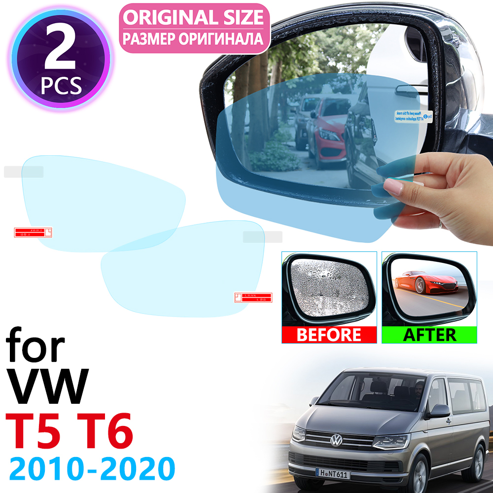 for <font><b>VW</b></font> <font><b>T5</b></font> T6 Volkswagen Transporter <font><b>Multivan</b></font> 2010~2020 Full Cover Rearview Mirror Anti-Fog Rainproof Anti Fog Film Accessories image