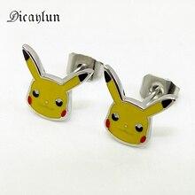 Animal-Earrings Pocket-Head Stainless-Steel Japanese Cartoon Gifts Women Cute DICAYLUN