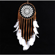 New goose feather big lace dream catcher home feather lace crafts ornaments car pendants home decor wall hangings wind chimes
