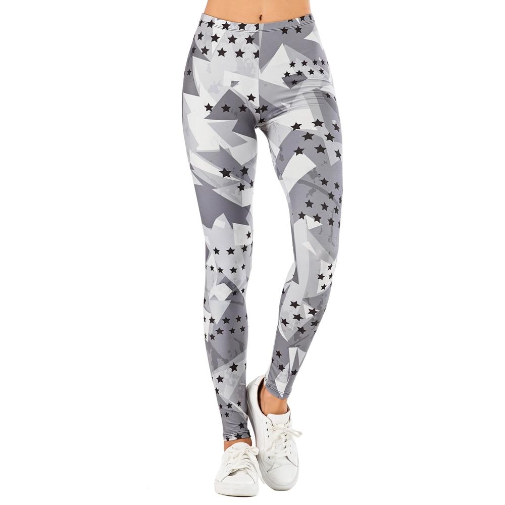 Brand Sexy Women Legging leaf Printing Fitness leggins Fashion Slim legins High Waist Leggings Woman Pants 9