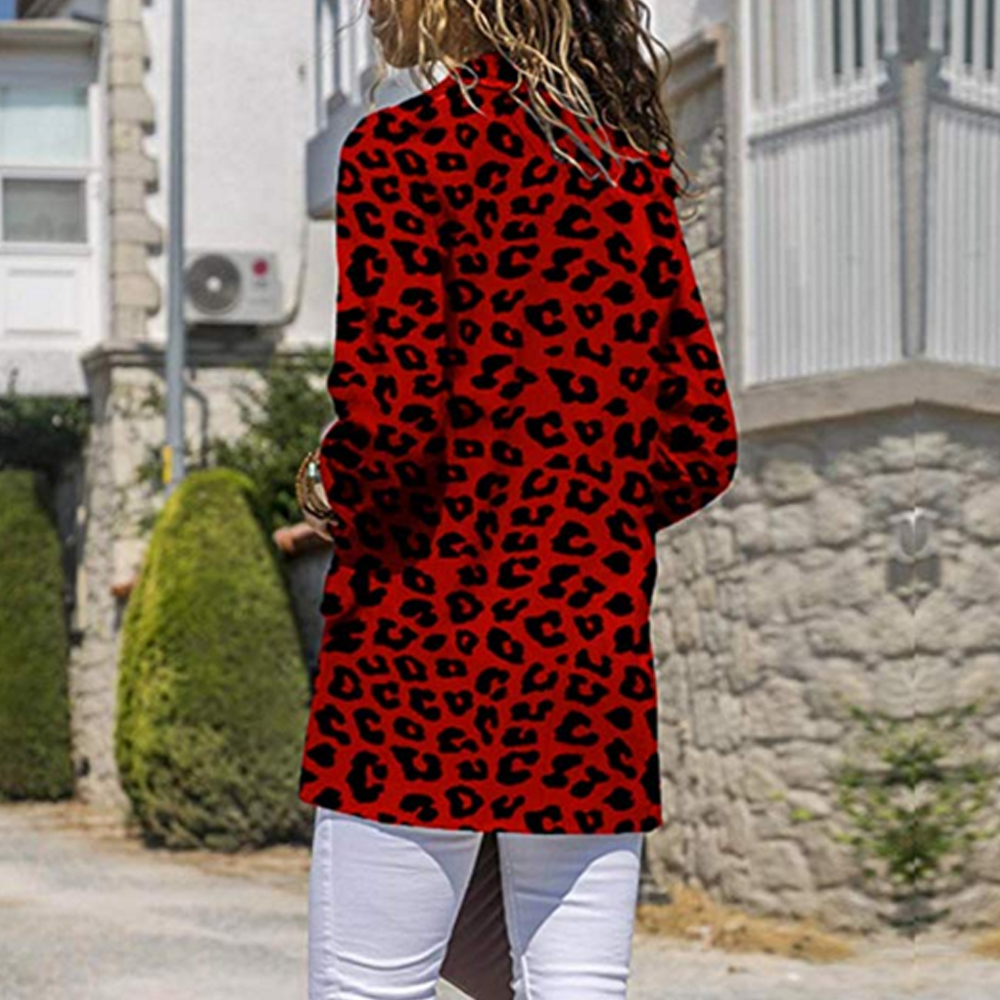 LOOZYKIT Women Vintage Sexy Leopard Print Blazer Long Sleeve Coat Female Outerwear 2019 Fashion Feminine Tops