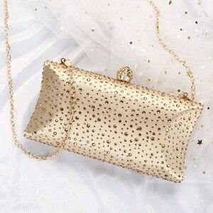 Image 5 - זהב מצמד שקיות נשים 2020 ירוק מצמד ארנקי תיקי עם ריינסטון חתונה כתף תיק גבירותיי ערב תיק ZD1300