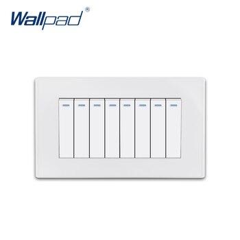 8 Gang 2 Way Wallpad luksusowe biały PC panelowe oświetlenie ścienne przełącznik Rocker przełącznik 16A AC110 ~ 250V