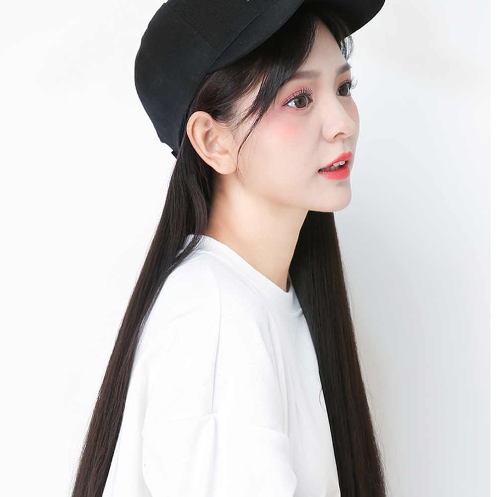 Best Baseball Cap with Synthetic Hair Extension Long Hair Wig Hat for Women QQ99
