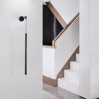 Novo nordic conduziu a luz da parede personalidade criativa quarto de cabeceira tubo preto cilíndrico corredor lâmpada parede decorativa|Luminárias de parede| |  -