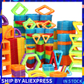 Магнитные блоки среднего размера  96 шт.  цветные магнитные строительные блоки  Обучающие магнитные наборы  обучающие игрушки для детей