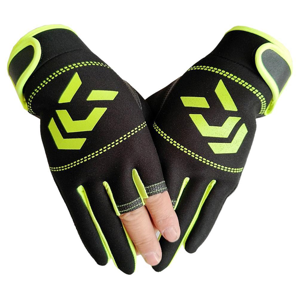 Unisex Breathable Anti-slip Protective Gloves For Outdoor Non-slip Fishing Protective Gloves 3 Fingers Cut Sports Half Finger