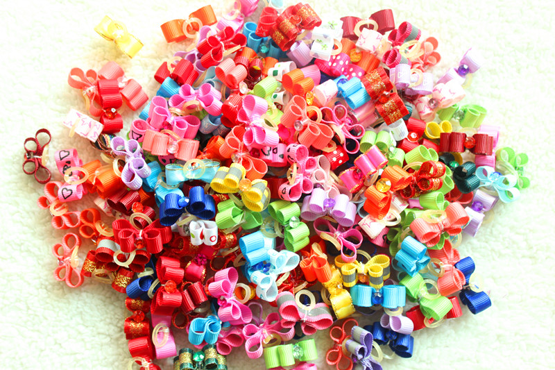 100pcs lot Small font b Pet b font Dog Exquisite Grooming Accessories Product Hand made Small