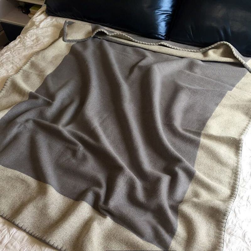 800g Thickening Letter Blanket Crochet Soft Wool Scarf Shawl Portable Warm Plaid H Sofa Bed Fleece Knitting Blanket 130x180cm-3