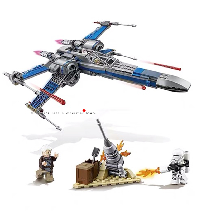 Compatible Lepining Starwars 05004 05145 X Wing Star Tie Fighter Building Blocks Compatible Star Plan Wars Children Toy 75149
