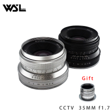 WesleyWSL 25mm F1.7 Lens for Sony NEX E-mount / for Fuji XF APS-C /  Macro 4/3 Mirrorless Camera  VS 7artisans Gift CCTV 35mm
