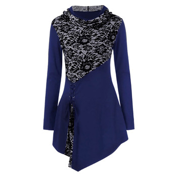 Women Blouse Winter Irregular Blouse Casual Ladies O-Neck Tunic Tops Female Women Long Sleeve Shirt Blusas Pullover Plus Size blouse 1207041 13