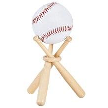 Бейсбольный гольф теннисный мяч Дисплей Стенд сувенир мяч деревянный держатель Поддержка