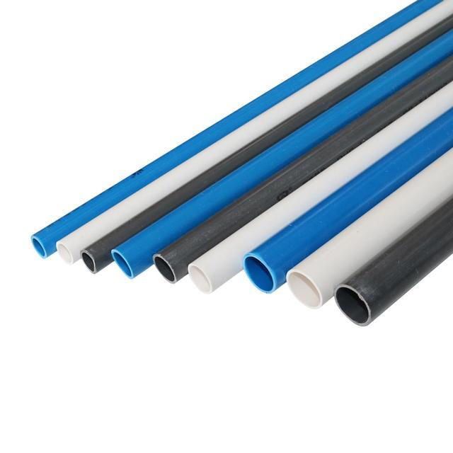 10 Pcs DN20 DN25 DN32 PVC צינור מחבר השקיה אקווריום דגי טנק ניקוז צינור אינסטלציה 48 50cm לבן/כחול/אפור