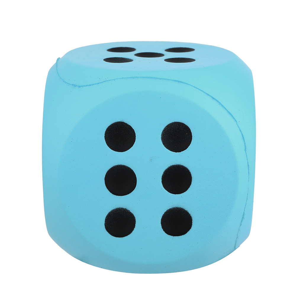 Giant Dice Decompression Toy Slow Rebound PU Toy 10cm Giant Jumbo Dice Slow Rising Cream Scented Stress Relief Toys L102