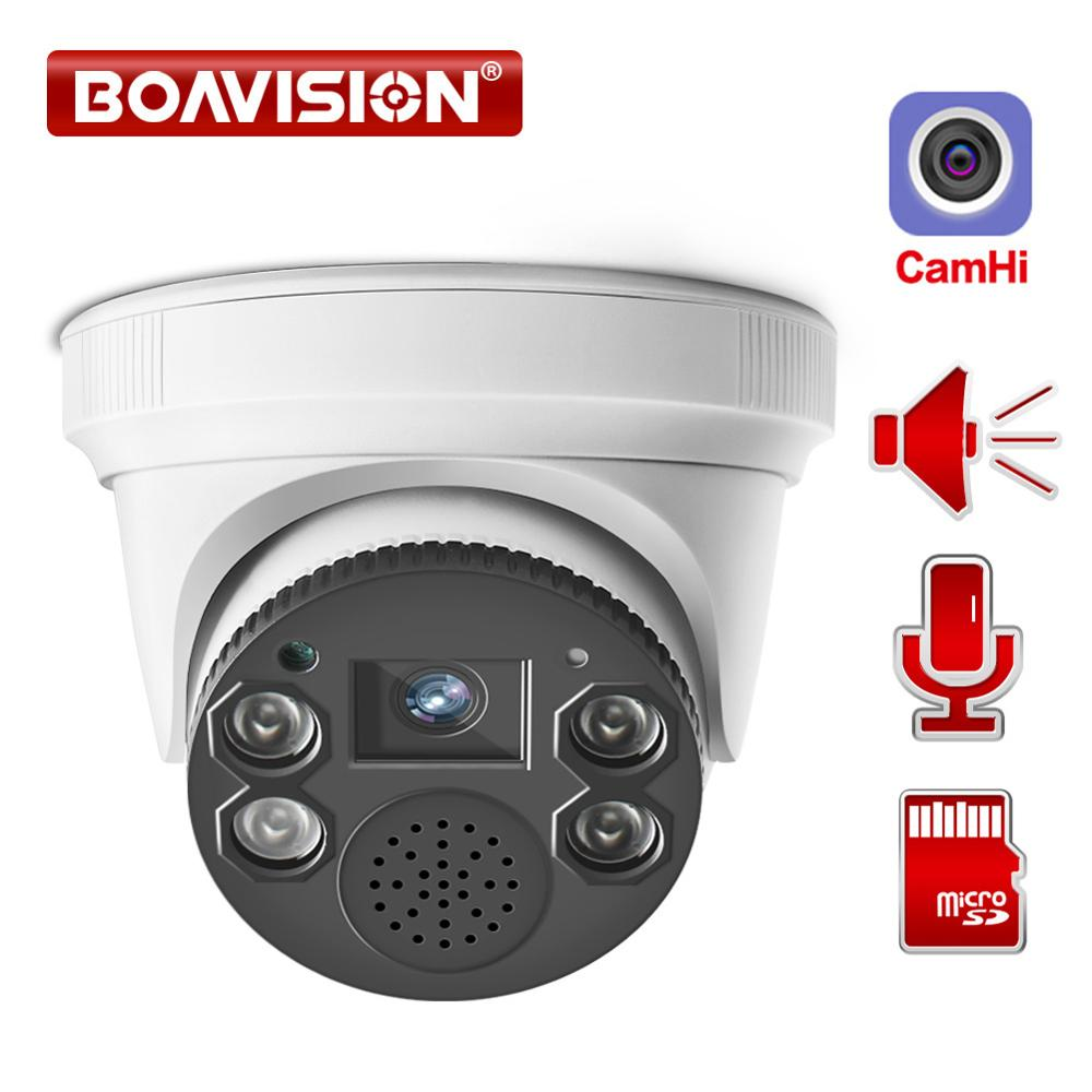 Wifi IP Camera 1080P ONVIF Wireless Dome Camera 2.0MP Security Camera Two Way Audio TF Card Slot Night Vision 20m P2P APP CamHi image