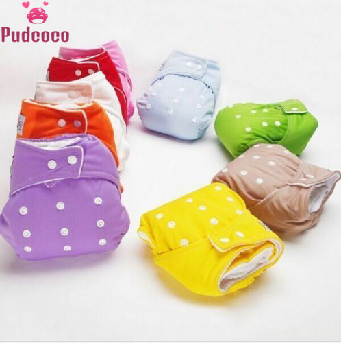 Pudcoco 1PC Adjustable Reusable Lot Baby Kids Boy Girls Washable Cloth Diapers Insert Baby Nappies Training Pants Solid 7 Colors