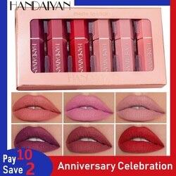 HANDAIYAN Lip Gloss Lightweight Matte Long Lasting Waterproof Velvet Lipstick Set Nourish Moisturizing Professional Lip Makeup
