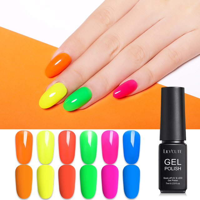 LILYCUTE Fluorescence Neon Gel Polish 7ml