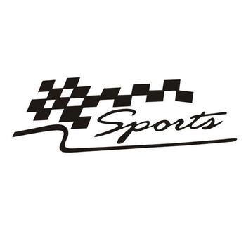50% HOT SALES!!!New Arrival SPORT Letter Checkered Racing Flag Removable Car Sticker Auto Reflective Decal